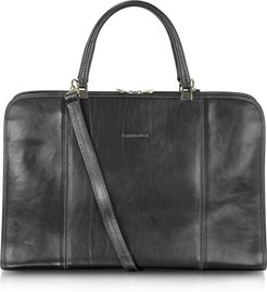 Briefcases Double Handle Leather Briefcase