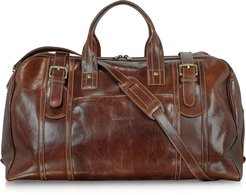 Travel Bags Large Brown Italian Leather Holdall Bag Travel Bag