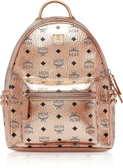 Designer Men's Gloves, Small Champagne Gold Visetos Stark Side Studs Backpack