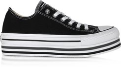 Designer Shoes, Black Chuck Taylor All Star Platform EVA Layer