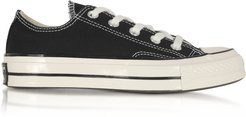 Designer Shoes, Black Chuck 70 w/ Vintage Canvas Low Top