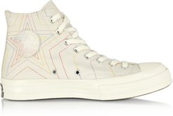 Designer Shoes, Pale Putty Chuck 70 Exploding Star High Top