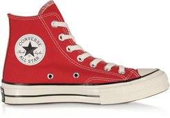 Designer Shoes, Red Chuck 70 w/ Vintage Canvas High Top