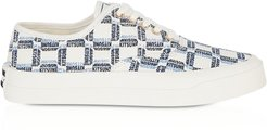 Designer Shoes, All-Over Rectangle Laced Canvas Sneaker