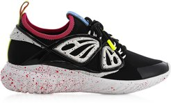Designer Shoes, Fly-By Black & White Synthetic Sneakers