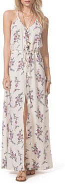 Malia Floral Print Maxi Dress, Size Small - White