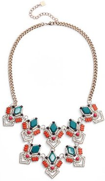 Stone & Crystal Statement Necklace
