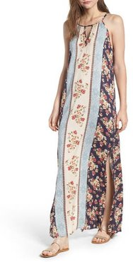 Print Keyhole Maxi Dress