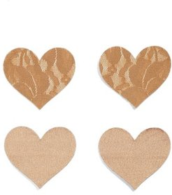 Nippies By Bristols Six Heart Nipple Covers, Size C - Beige