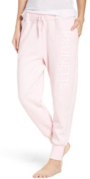 Brunette Jogger Pants, Size X-Small/Small - Pink