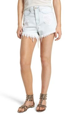 Wyoming High Waist Cutoff Denim Shorts