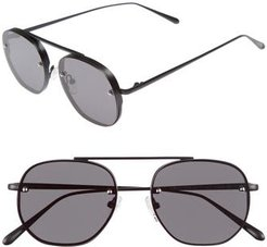 Traction 52Mm Aviator Sunglasses - Gravity Black