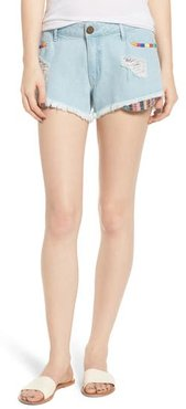 Cabo Cutoff Denim Shorts, Size 27 - Blue