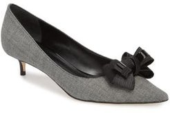 Butter Bentley Bow Pointy Toe Pump, Size 10 M - Black