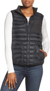 Evergreen Water-Resistant Down Insulator Vest, Size Small - Black