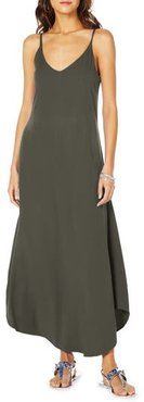 Reversible Strappy Maxi Dress, Size Large - Green