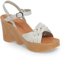 Knot So Fast Wedge Sandal, Size 9 M - Ivory