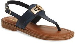 By Easy Street Clariss Sandal, Size 6 M - Blue