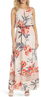 Tropical Breeze Print Maxi Dress