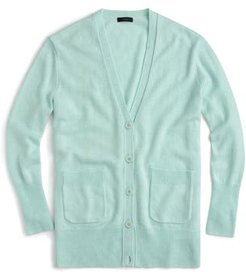 Oversize Wool Blend Cardigan, Size Small - Blue/green