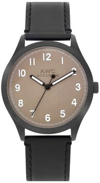 Numerial Leather Strap Watch, 40Mm
