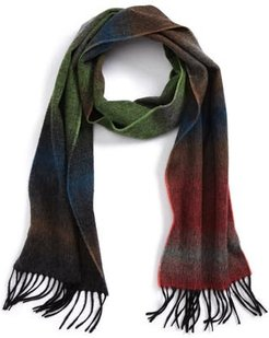 Fade Stripe Wool & Cashmere Scarf, Size One Size - Green