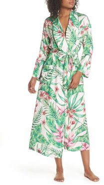 Floral Print Robe, Size X-Large - Pink