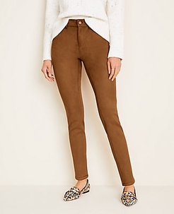 Petite Faux Suede Skinny Jeans