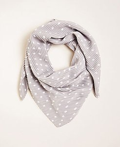 Dot Pleated Scarf