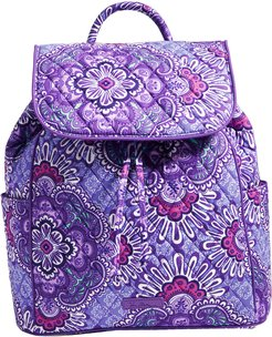 Lilac Tapestry Drawstring Backpack