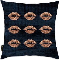 'Solid Kiss Copper Navy' Decorative Pillow