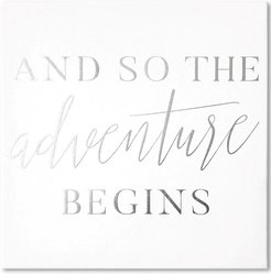 So the Adventure Begins Silver Foil Embellished  by Wynwood Studio