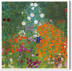 Klimt - Cottage Garden Canvas Art