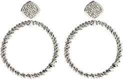 Crystal Twisted Circle Earrings