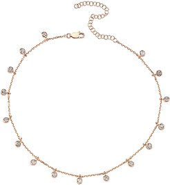 Plated CZ Carina Choker Necklace