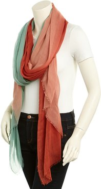 Pacific Blue Cashmere & Silk-Blend Dip Dyed Scarf