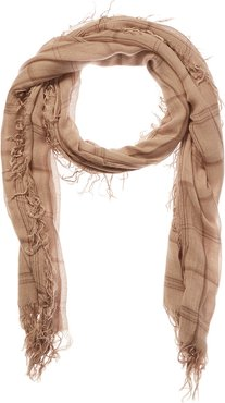 Tissue Square Plaid Cashmere & Silk-Blend Scarf