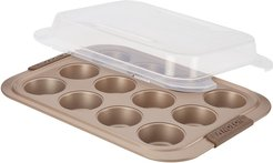 Advanced 12-Cup Bronze Nonstick Covered Bakeware