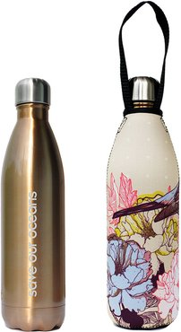 Future 25oz Bird Print Bottle + Carry Cover