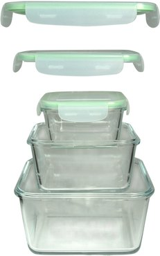 3pc Snap and Seal Containers