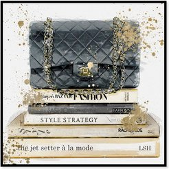 Jetsetter a la Mode Framed Canvas Art