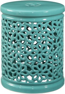 Lacey Floral Cutout Ceramic Garden Stool