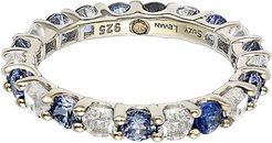 Suzy Levian 18K & Silver 2.32 ct. tw. Sapphire Eternity Band