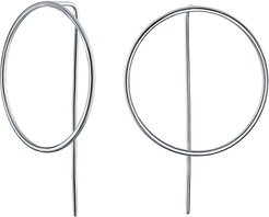 Electrocoated Silver Hoops