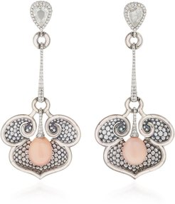 One-Of-A-Kind Diamond And Conch Pearl Earrings