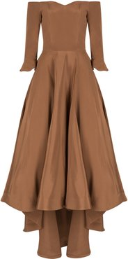 Beatrice Silk Off Shoulder Gown