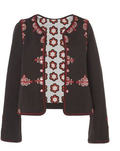 One Of A Kind Anna Hand-Embroidered Button Floral Jack