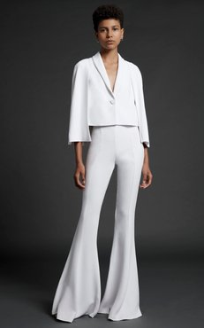 Cushnie Short Jacket With Caped Sleeves And Button Closures Size: 10