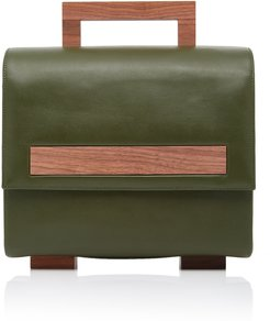 Klee Suede and Calf Leather Handbag