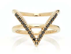 M'O Exclusive: Icon Ring With Black Diamonds